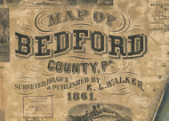 Title of Source Map - Bedford Co., Pennsylvania 1861 - NOT FOR SALE - Bedford Co.