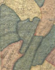 Harrison Township, Pennsylvania 1861 Old Town Map Custom Print - Bedford Co.