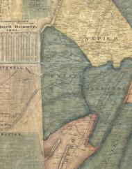 Juniata Township, Pennsylvania 1861 Old Town Map Custom Print - Bedford Co.