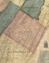 Monroe Township, Pennsylvania 1861 Old Town Map Custom Print - Bedford Co.
