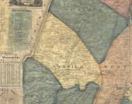 Napier Township, Pennsylvania 1861 Old Town Map Custom Print - Bedford Co.