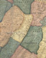 Snake Spring Township, Pennsylvania 1861 Old Town Map Custom Print - Bedford Co.