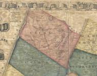 Union Township, Pennsylvania 1861 Old Town Map Custom Print - Bedford Co.