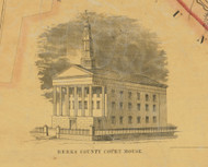Berks County Court House - Berks Co., Pennsylvania 1854 Old Town Map Custom Print - Berks Co.