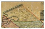 Albany Township, Pennsylvania 1860 Old Town Map Custom Print - Berks Co.