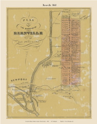 Borough of Bernville, Pennsylvania 1860 Old Town Map Custom Print - Berks Co.