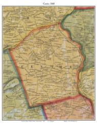Centre Township, Pennsylvania 1860 Old Town Map Custom Print - Berks Co.