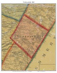 Colebrookdale Township, Pennsylvania 1860 Old Town Map Custom Print - Berks Co.
