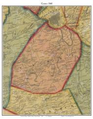 Cumru Township, Pennsylvania 1860 Old Town Map Custom Print - Berks Co.