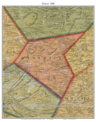 District Township, Pennsylvania 1860 Old Town Map Custom Print - Berks Co.