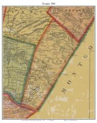Douglas Township, Pennsylvania 1860 Old Town Map Custom Print - Berks Co.