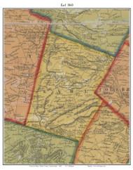 Earl Township, Pennsylvania 1860 Old Town Map Custom Print - Berks Co.