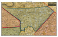 Greenwich Township, Pennsylvania 1860 Old Town Map Custom Print - Berks Co.
