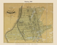 Borough of Hamburg, Pennsylvania 1860 Old Town Map Custom Print - Berks Co.
