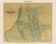 Borough of Hamburg, Pennsylvania 1860 Old Town Map Custom Print - Berks Co.