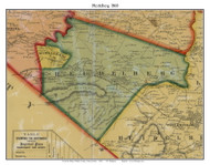 Heidelberg Township, Pennsylvania 1860 Old Town Map Custom Print - Berks Co.