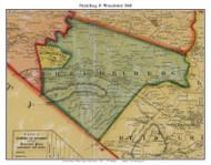 Heidelberg & Womelsdorf Townships, Pennsylvania 1860 Old Town Map Custom Print - Berks Co.