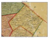 Hereford Township, Pennsylvania 1860 Old Town Map Custom Print - Berks Co.