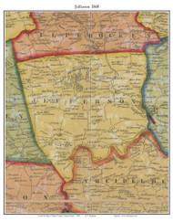 Jefferson Township, Pennsylvania 1860 Old Town Map Custom Print - Berks Co.