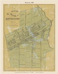 Borough of Kutztown, Pennsylvania 1860 Old Town Map Custom Print - Berks Co.