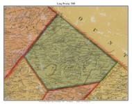 Long Swamp Township, Pennsylvania 1860 Old Town Map Custom Print - Berks Co.