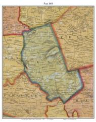 Penn Township, Pennsylvania 1860 Old Town Map Custom Print - Berks Co.