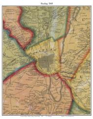 Reading Township, Pennsylvania 1860 Old Town Map Custom Print - Berks Co.