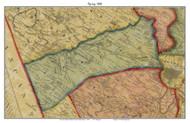 Spring Township, Pennsylvania 1860 Old Town Map Custom Print - Berks Co.