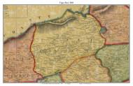 Upper Bern Township, Pennsylvania 1860 Old Town Map Custom Print - Berks Co.