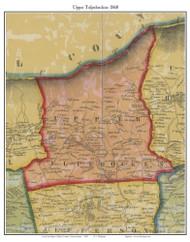 Upper Tulpehocken Township, Pennsylvania 1860 Old Town Map Custom Print - Berks Co.