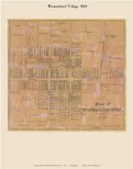 Womelsdorf Village, Pennsylvania 1860 Old Town Map Custom Print - Berks Co.