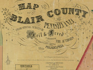 Title of Source Map - Bedford Co., Pennsylvania 1859 - NOT FOR SALE - Blair Co.