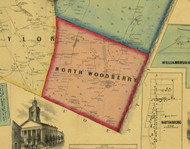 North Woodberry Township, Pennsylvania 1859 Old Town Map Custom Print - Blair Co.