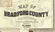 Title of Source Map - Bradford Co., Pennsylvania 1858 - NOT FOR SALE - Bradford Co.