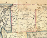 Litchfield Township, Pennsylvania 1858 Old Town Map Custom Print - Bradford Co.