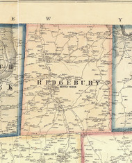 Ridgebury Township, Pennsylvania 1858 Old Town Map Custom Print - Bradford Co.