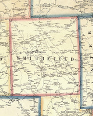 Smithfield Township, Pennsylvania 1858 Old Town Map Custom Print - Bradford Co.