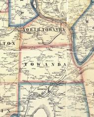 Towanda Township, Pennsylvania 1858 Old Town Map Custom Print - Bradford Co.