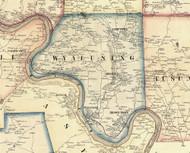 Wyalusing Township, Pennsylvania 1858 Old Town Map Custom Print - Bradford Co.