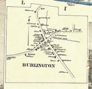 Burlington Village - Bradford Co., Pennsylvania 1858 Old Town Map Custom Print - Bradford Co.