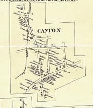 Canton Village - Bradford Co., Pennsylvania 1858 Old Town Map Custom Print - Bradford Co.