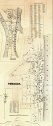 Towanda Village - Bradford Co., Pennsylvania 1858 Old Town Map Custom Print - Bradford Co.