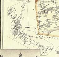 Troy Village - Bradford Co., Pennsylvania 1858 Old Town Map Custom Print - Bradford Co.