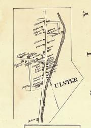 Ulster - Bradford Co., Pennsylvania 1858 Old Town Map Custom Print - Bradford Co.