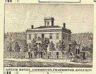 Asylum Hotel - Asylum, Pennsylvania 1858 Old Town Map Custom Print - Bradford Co.