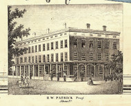Patrick Property - Athens, Pennsylvania 1858 Old Town Map Custom Print - Bradford Co.
