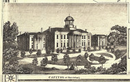 Capitol - Harrisburg, Pennsylvania 1858 Old Town Map Custom Print - Bradford Co.