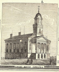 Court House - Towanda, Pennsylvania 1858 Old Town Map Custom Print - Bradford Co.