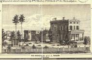 Ward Residence - Towanda, Pennsylvania 1858 Old Town Map Custom Print - Bradford Co.