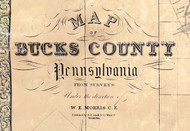 Title of Source Map - Bucks Co., Pennsylvania 1850 - NOT FOR SALE - Bucks Co.